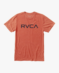 0 BIG RVCA SHORT SLEEVE TEE Brown M420VRBI RVCA