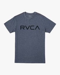 0 Big RVCA T-Shirt Blue M420VRBI RVCA