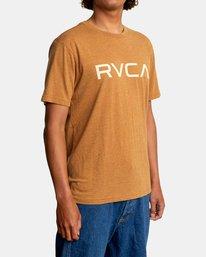 6 BIG RVCA SHORT SLEEVE TEE Brown M420VRBI RVCA