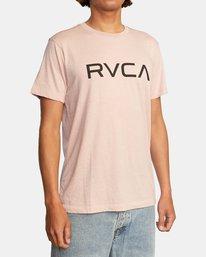 4 BIG RVCA SHORT SLEEVE TEE Grey M420VRBI RVCA