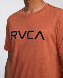 3 BIG RVCA SHORT SLEEVE TEE Brown M420VRBI RVCA