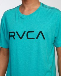 3 BIG RVCA SHORT SLEEVE TEE Blue M420VRBI RVCA