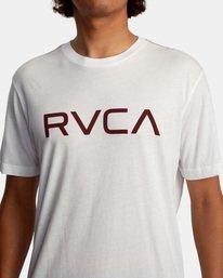 4 BIG RVCA SHORT SLEEVE TEE White M420VRBI RVCA