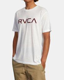 5 BIG RVCA SHORT SLEEVE TEE White M420VRBI RVCA