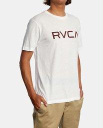 6 BIG RVCA SHORT SLEEVE TEE White M420VRBI RVCA