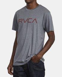 3 BIG RVCA SHORT SLEEVE TEE Grey M420VRBI RVCA