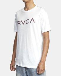 3 BIG RVCA SHORT SLEEVE TEE White M420VRBI RVCA