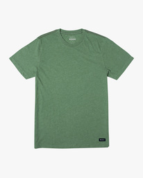 0 SOLO LABEL SHORT SLEEVE TEE Green M420VRSO RVCA