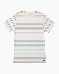 0 Feeder Striped T-Shirt White M422QRFE RVCA
