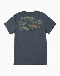 0 Ben Horton Salmon T-Shirt Blue M422QRSH RVCA