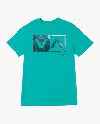 0 RVCA Reflection Box T-Shirt Green M426QRRE RVCA