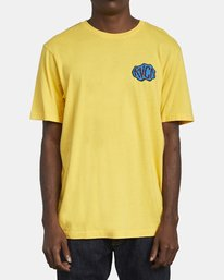 0 CORNER T-SHIRT Yellow M4301RCO RVCA