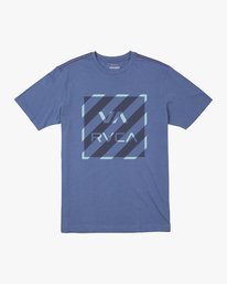 0 HAZARD BOX T-SHIRT Blue M4301RHA RVCA