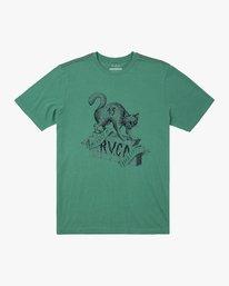 0 FRIDAY SHORT SLEEVE T-SHIRT Green M4302RFR RVCA
