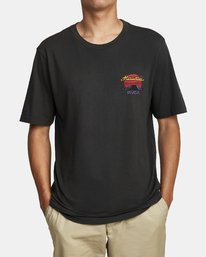 0 HOT DOG HAWAII SHORT SLEEVE T-SHIRT Black M4302RHO RVCA