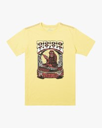 0 MONKEY SAUCE SHORT SLEEVE TEE Yellow M4302RMO RVCA