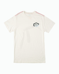 0 FRACTION SHORT SLEEVE TEE White M4303RFR RVCA