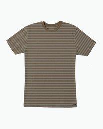 0 Brong Stripe T-Shirt Brown M430SRBR RVCA