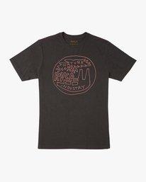 0 Rust Belt Embroidered T-Shirt Black M430TRRU RVCA
