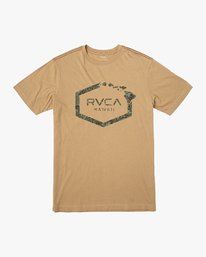 0 Island Hex T-Shirt Yellow M430VRIS RVCA