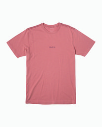 0 Small RVCA Embroidered T-Shirt Pink M430VRSM RVCA