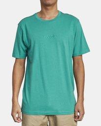 0 SMALL RVCA T-SHIRT Green M430VRSM RVCA