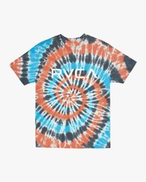 0 RVCA TIE DYE SHORT SLEEVE TEE Orange M4312RBI RVCA