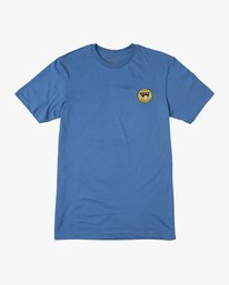 0 Birdwell PM NK Patch T-Shirt Blue M434PRPK RVCA