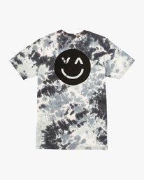 0 Happy Sad Tie Dye T-Shirt Black M446VRHS RVCA