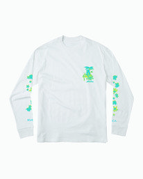 0 HULA HALFTONE LONG SLEEVE T-SHIRT White M4511RHH RVCA