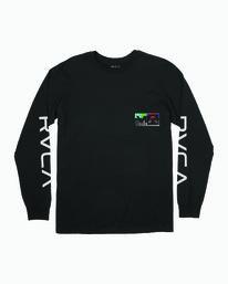0 TESTING LONG SLEEVE T-SHIRT Black M4511RTE RVCA