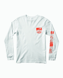 0 BARBARIAN LONG SLEEVE TEE White M4513RBA RVCA