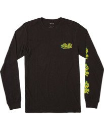 0 DMOTE COLLAGE LONG SLEEVE TEE Black M4513RDM RVCA