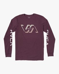 0 FACETS LONG SLEEVE T-SHIRT Red M4513RFA RVCA