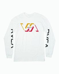 0 FACETS LONG SLEEVE T-SHIRT White M4513RFA RVCA