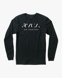 0 SF Stencil Long Sleeve T-Shirt  M451MRTE RVCA