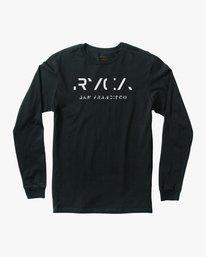 0 SF Stencil Long Sleeve T-Shirt Black M451MRTE RVCA