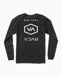 0 Hex Type NY Long Sleeve T-Shirt Black M451SRNE RVCA