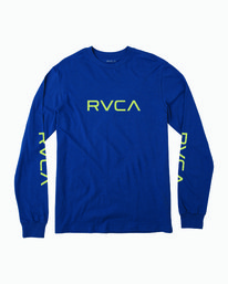 0 Big RVCA Long Sleeve T-Shirt Blue M451URBI RVCA