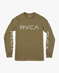 0 Big RVCA Long Sleeve T-Shirt Green M451URBI RVCA