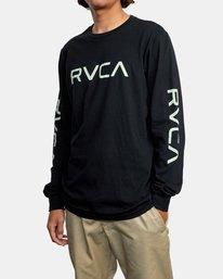4 BIG RVCA LONG SLEEVE TEE Black M451URBI RVCA