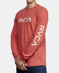 3 Big RVCA Long Sleeve TEE Grey M451URBI RVCA