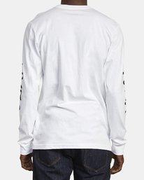 2 Big RVCA Long Sleeve TEE White M451URBI RVCA