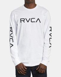 1 Big RVCA Long Sleeve TEE White M451URBI RVCA