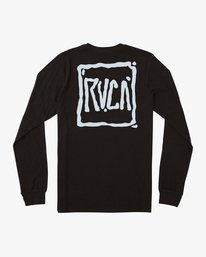 0 Sludged Long Sleeve T-Shirt Black M451URSL RVCA