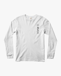 0 RVCA Sport Long Sleeve T-Shirt White M451URSP RVCA