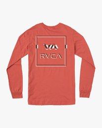 0 Big Glitch Long Sleeve T-Shirt Green M451VRBG RVCA