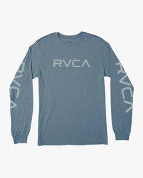 0 Big RVCA Long Sleeve T-Shirt Blue M452SRBI RVCA
