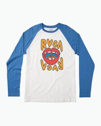 0 Flip Lip Long Sleeve Baseball Raglan  M454PRFL RVCA