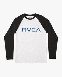 0 Big RVCA Baseball Raglan T-Shirt White M454SRBI RVCA